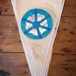 Mandala Festival Bunting – white/silver/blue
