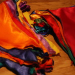 Vintage Silk Bunting hire