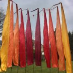 Dragon tail flags - festival - flag hire