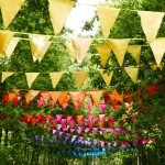 Vintage silk single hues all colours - bunting hire