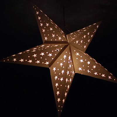 Star lantern illuminated