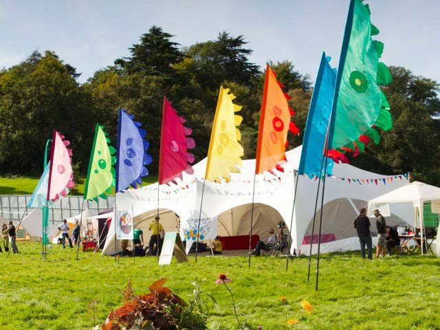 Half Moon Petal festival flags