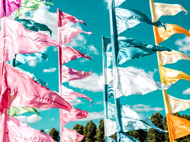 Silk & Ribbon festival flags