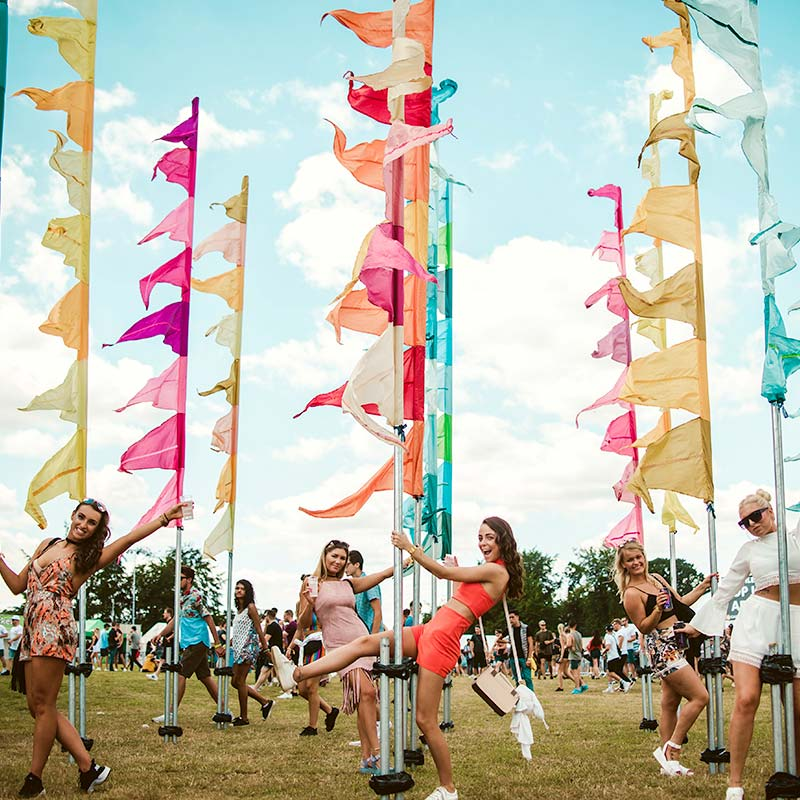 Festival flag hire